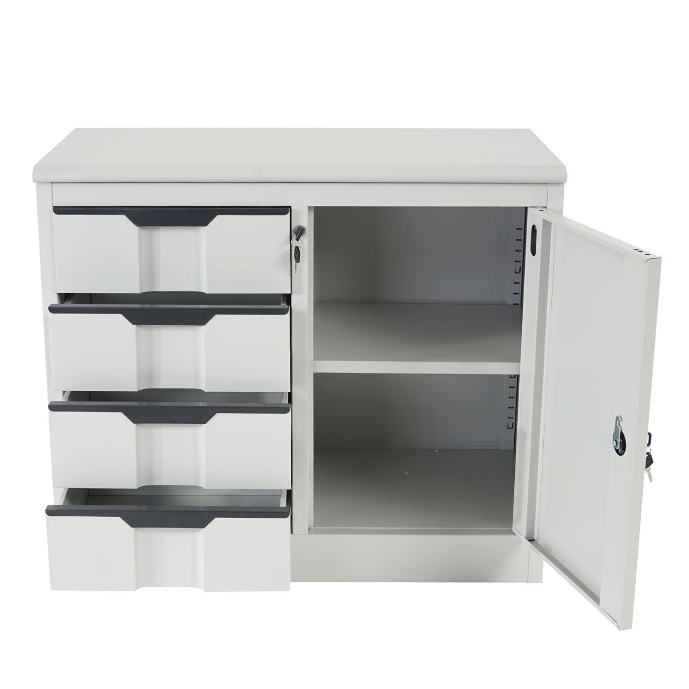 aktenschrank boston t310 b roschrank metallschrank 4 schubladen t r 70x80x42cm 4052826159901. Black Bedroom Furniture Sets. Home Design Ideas
