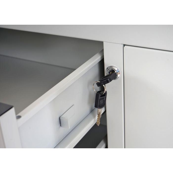 Büroschrank weiß schubladen  Boston T310, Büroschrank Stahlschrank Metallschrank, 4 Schubladen ...