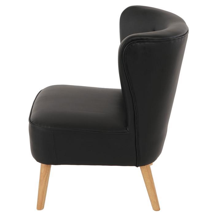 sessel malm t313 loungesessel polstersessel retro 50er jahre design schwarz leder. Black Bedroom Furniture Sets. Home Design Ideas