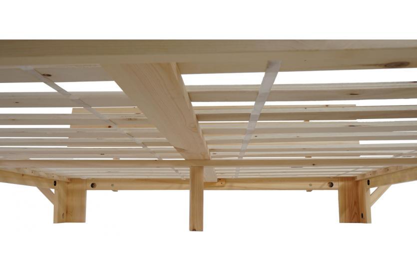 Bett Perth Doppelbett Massivholz Incl Lattenrost Ablage