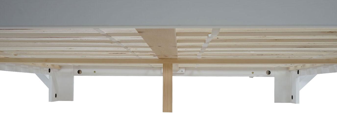 bett bendigo doppelbett massivholz inkl lattenrost ablage kiefer 160x200cm weiss lackiert led