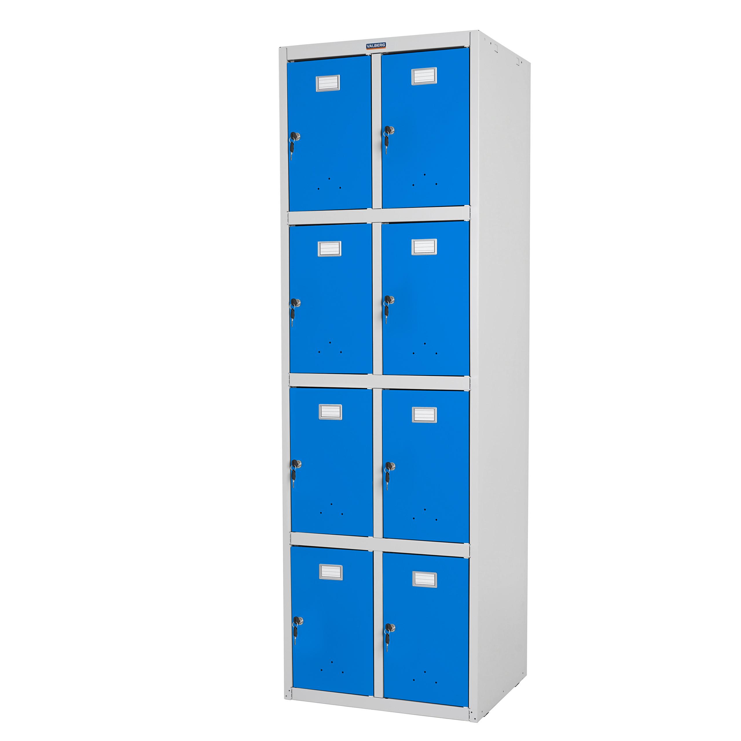 Valberg T335, Wertfachschrank Doppel-Spind, Metall 183x58x50cm ~ blau
