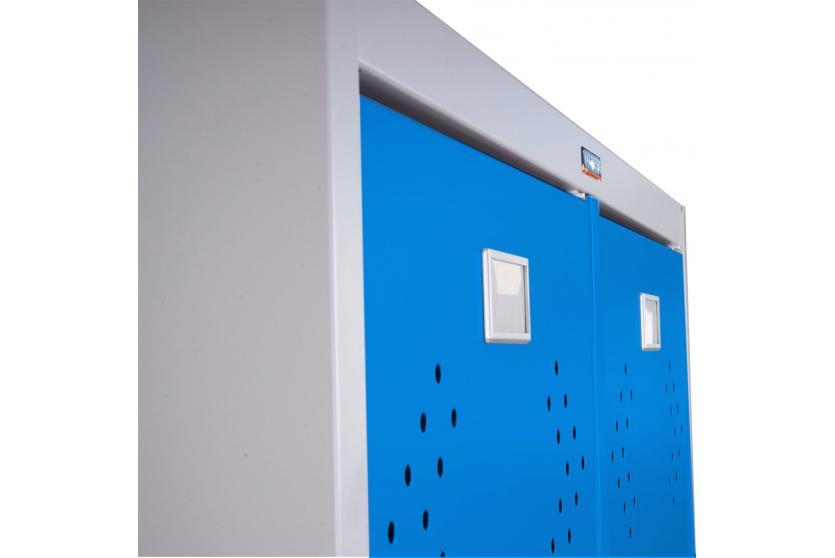 doppelspind valberg t338 kleiderspind metallspind 183x81x50cm nach asr blau ebay. Black Bedroom Furniture Sets. Home Design Ideas