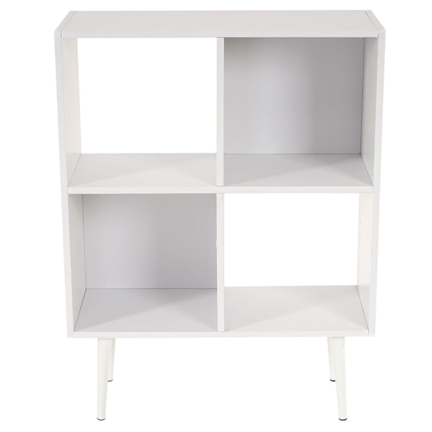 regal malm t340 standregal b cherregal retro design 94x71x30cm 4 f cher wei. Black Bedroom Furniture Sets. Home Design Ideas