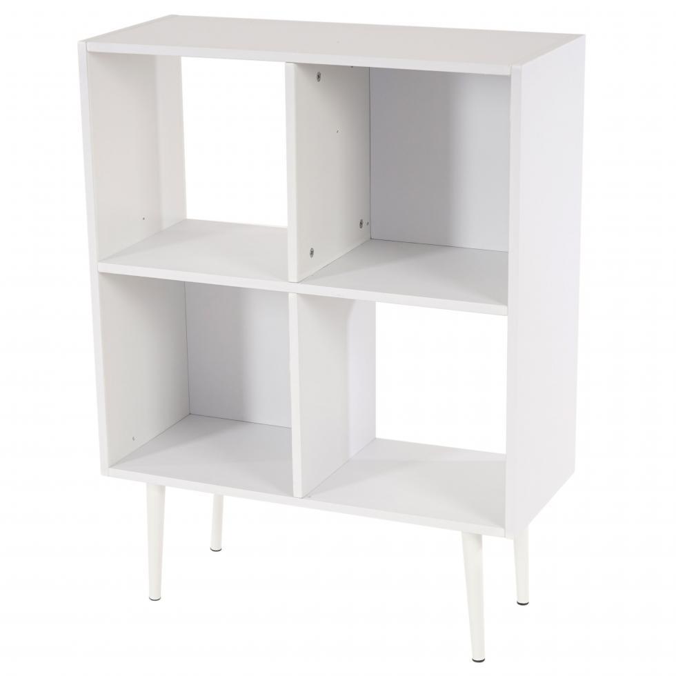 regal vaasa t340 b cherregal retro design 59x71x30cm 4 f cher wei ebay. Black Bedroom Furniture Sets. Home Design Ideas