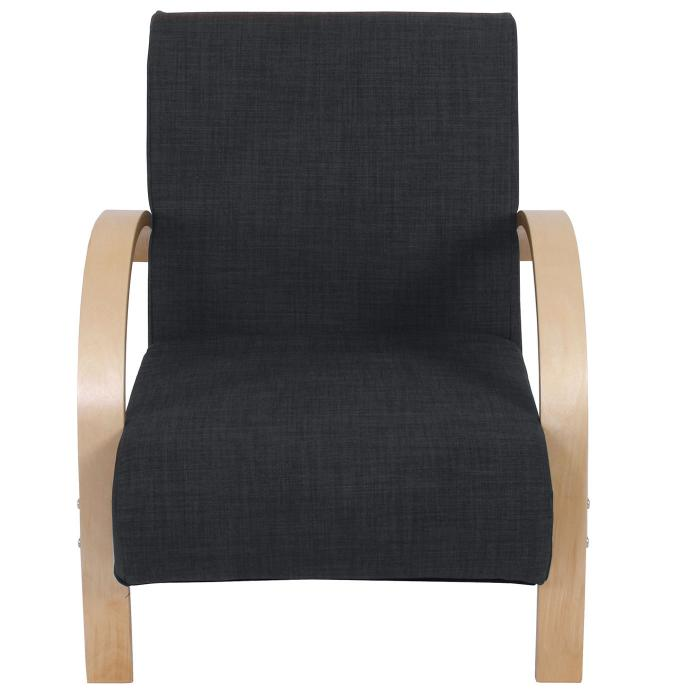 Sessel Malmö T343, Loungesessel Relaxsessel, 78x64x71cm Leinen ~ anthrazit