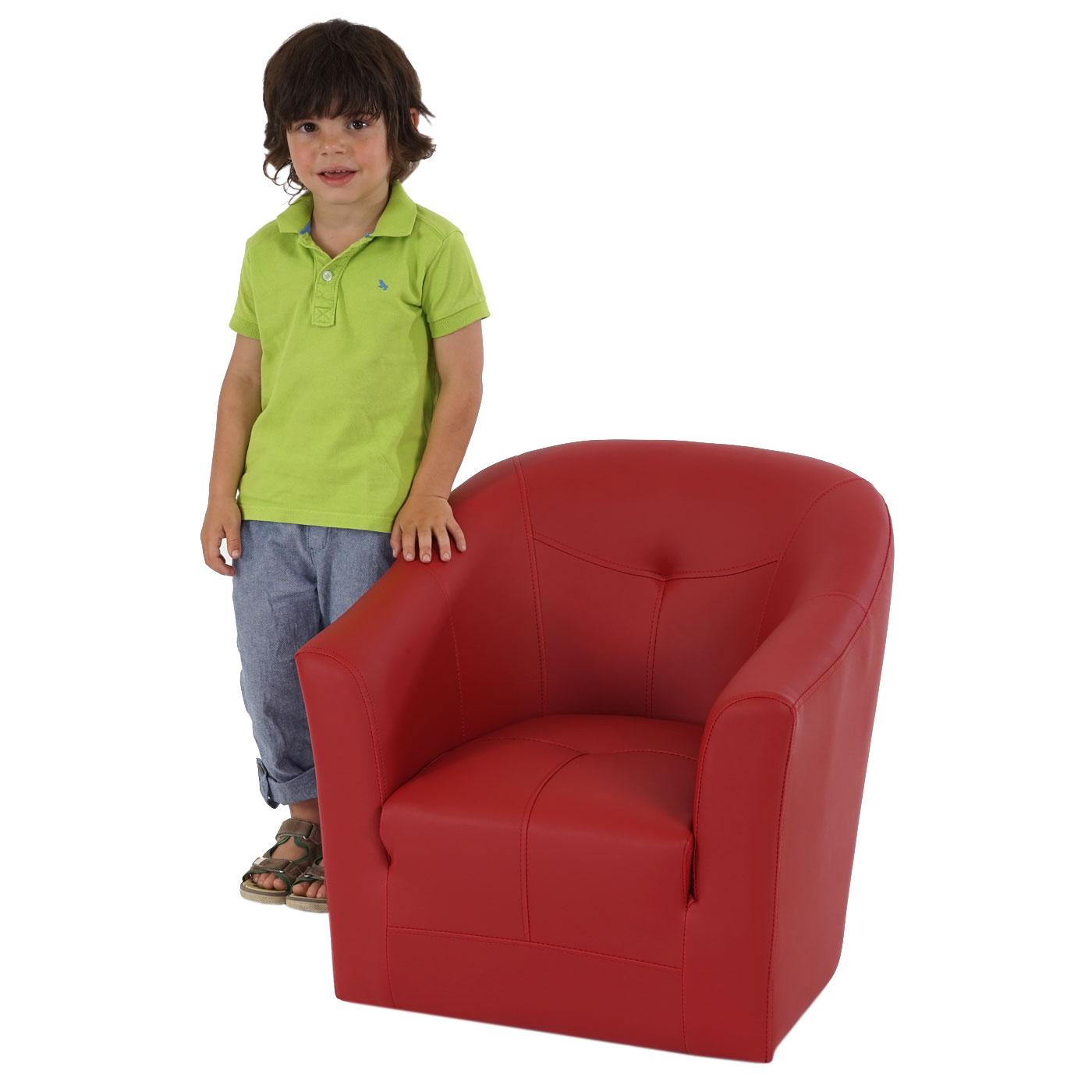 kindersessel madison kinderm bel sessel kinder kunstleder rot oder schwarz ebay. Black Bedroom Furniture Sets. Home Design Ideas
