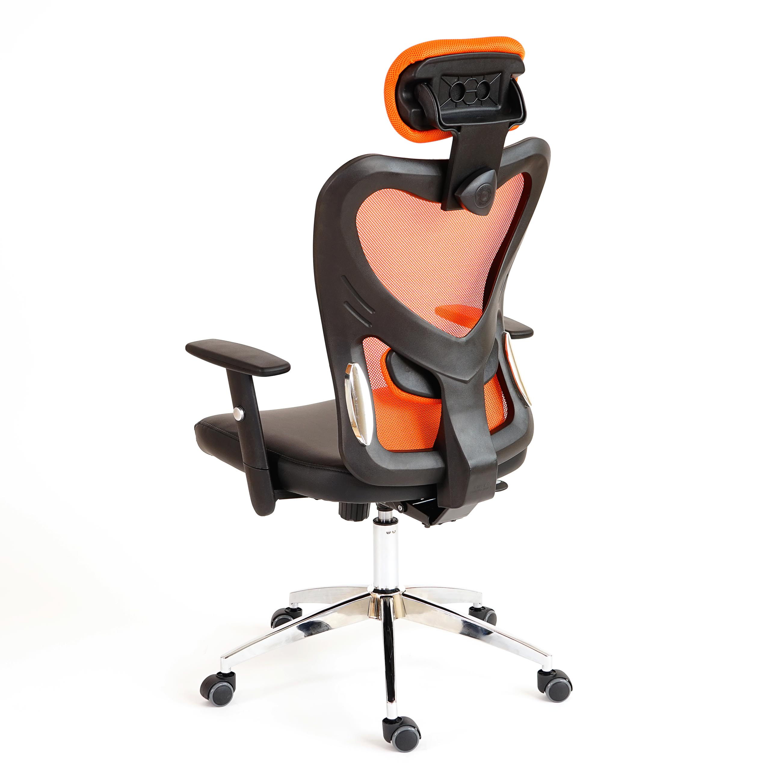 fauteuil de bureau am ricain atlanta xxl charge 150kg similicuir orange ebay. Black Bedroom Furniture Sets. Home Design Ideas
