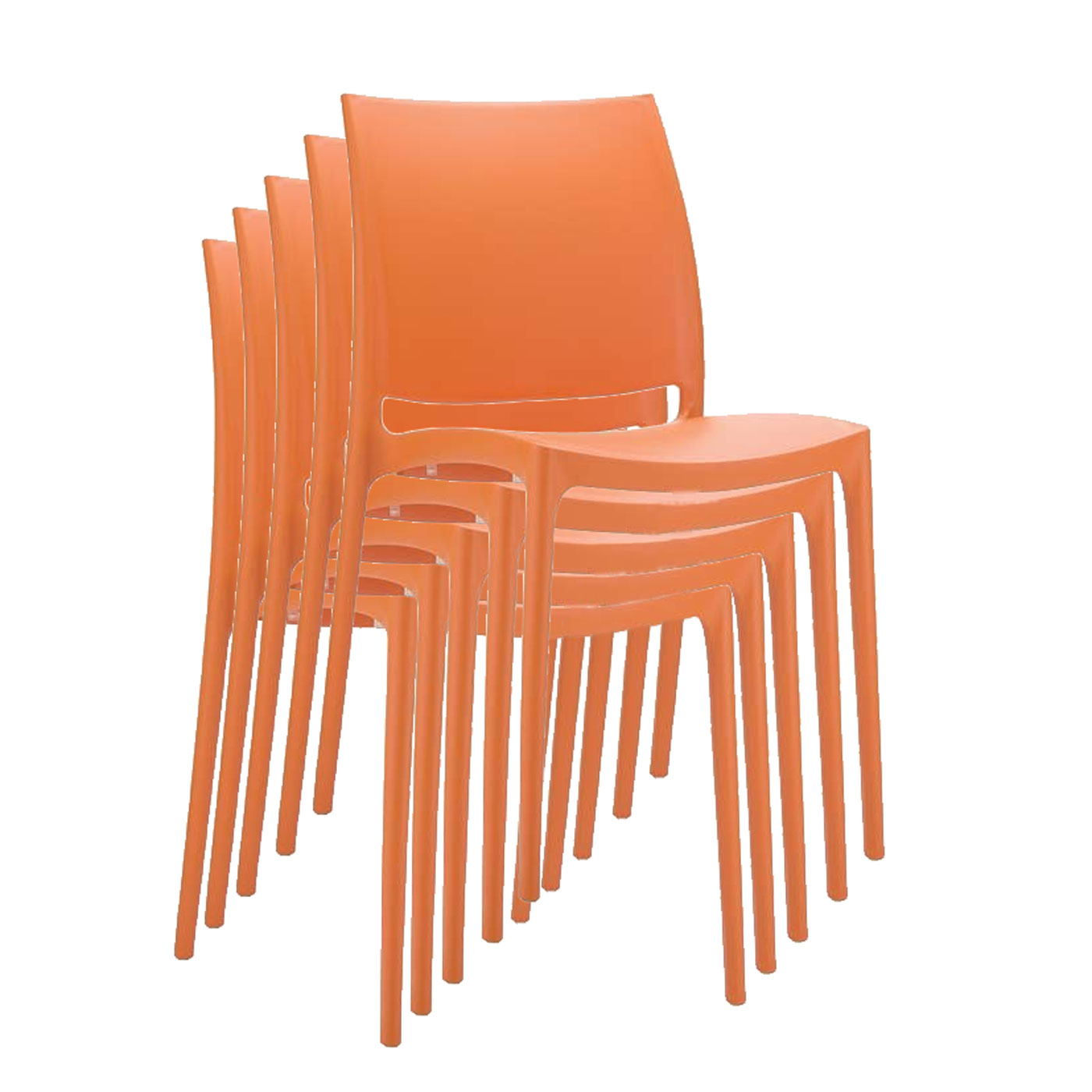 stapelstuhl bistrostuhl gartenstuhl kunststoff c44 orange. Black Bedroom Furniture Sets. Home Design Ideas