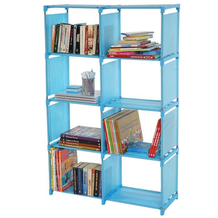 Steckregal aus kunststoff-boxen  Gard, Regalsystem Steckregal Aufbewahrung, je Box 31x39x28cm ~ blau