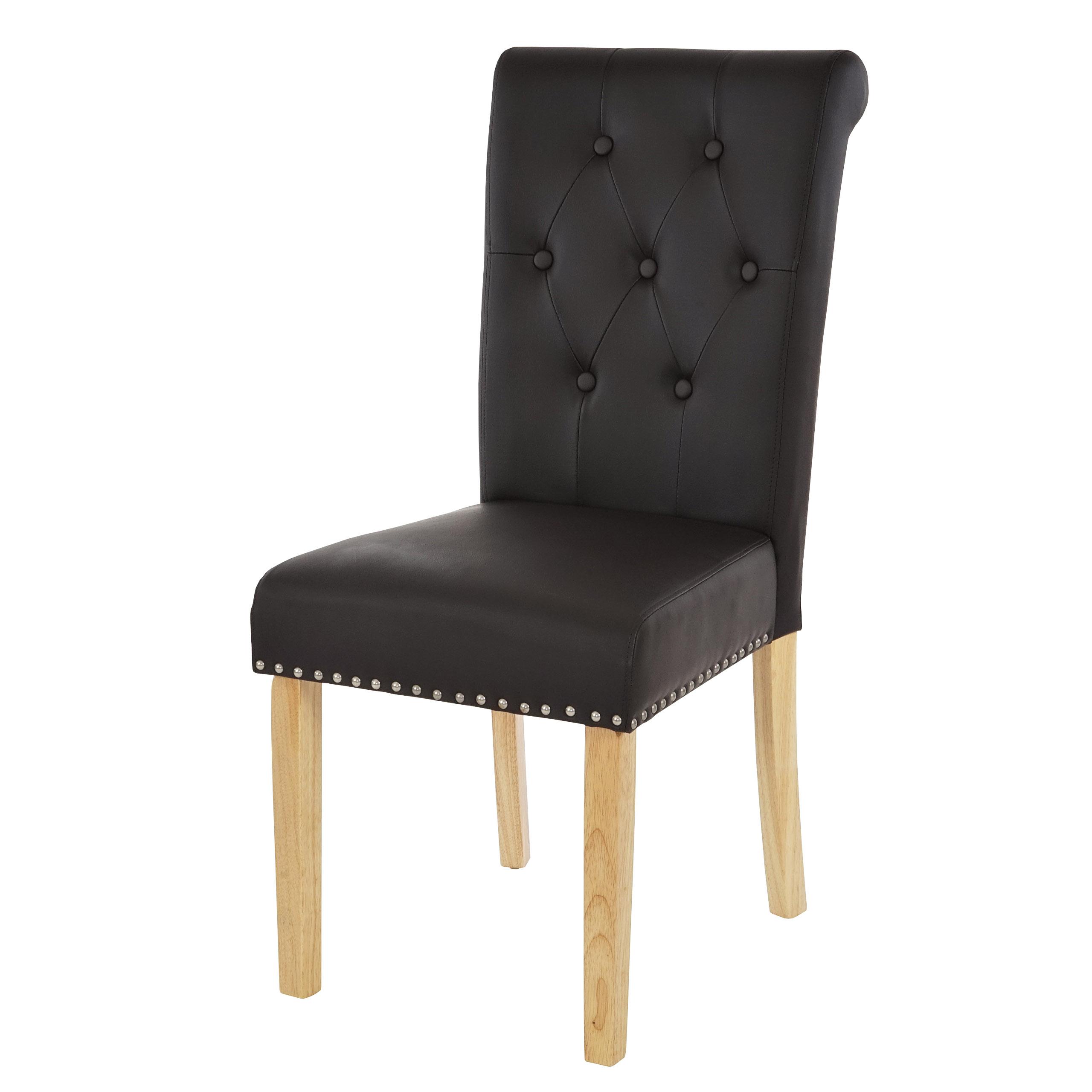 2x esszimmerstuhl chesterfield ii stuhl lehnstuhl nieten kunstleder coffee helle beine. Black Bedroom Furniture Sets. Home Design Ideas