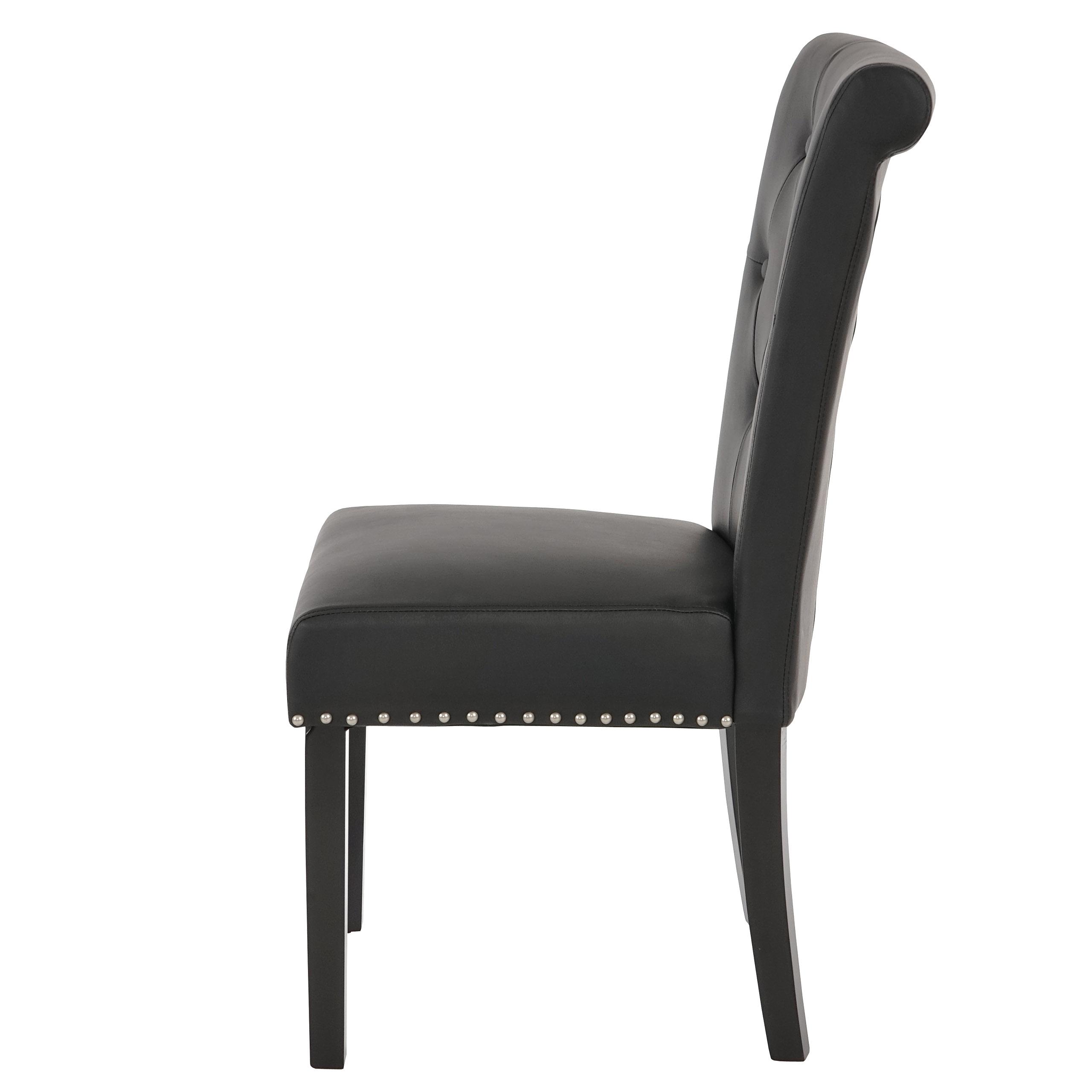 2x esszimmerstuhl chesterfield ii stuhl lehnstuhl nieten kunstleder coffee dunkle beine. Black Bedroom Furniture Sets. Home Design Ideas