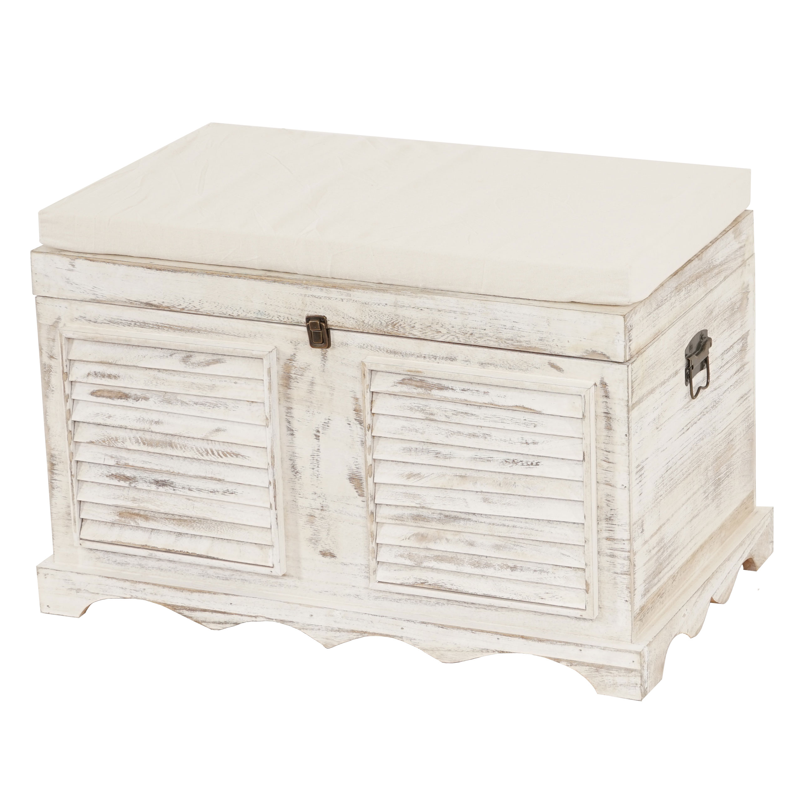 holztruhe t356 sitzbank aufbewahrungstruhe shabby look. Black Bedroom Furniture Sets. Home Design Ideas
