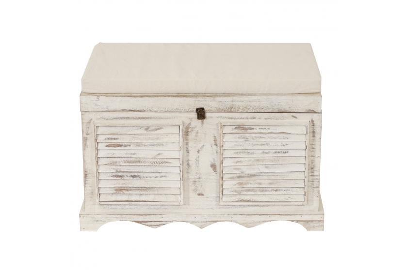 holztruhe sitzbank aufbewahrungstruhe 50x76x45cm vintage. Black Bedroom Furniture Sets. Home Design Ideas