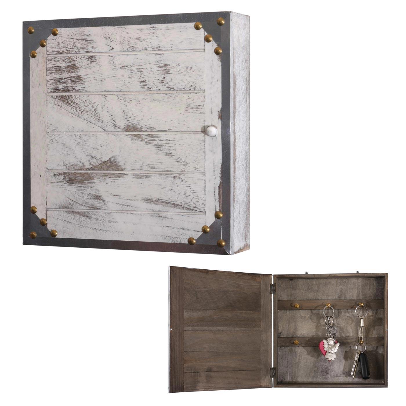 Virginia, Schlüsselschrank Holzbox, Shabby-Look Vintage 27x27x6cm ...