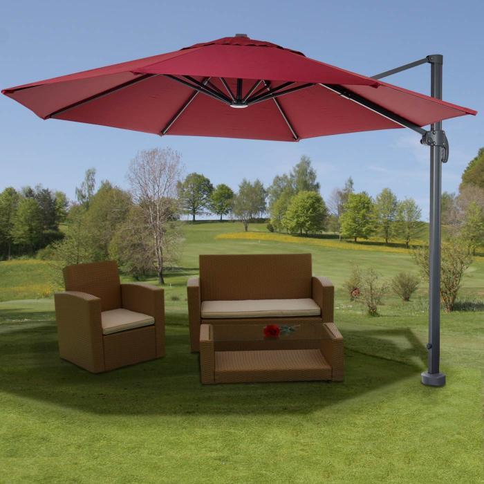gastronomie luxus ampelschirm sonnenschirm n22 alu 4m. Black Bedroom Furniture Sets. Home Design Ideas