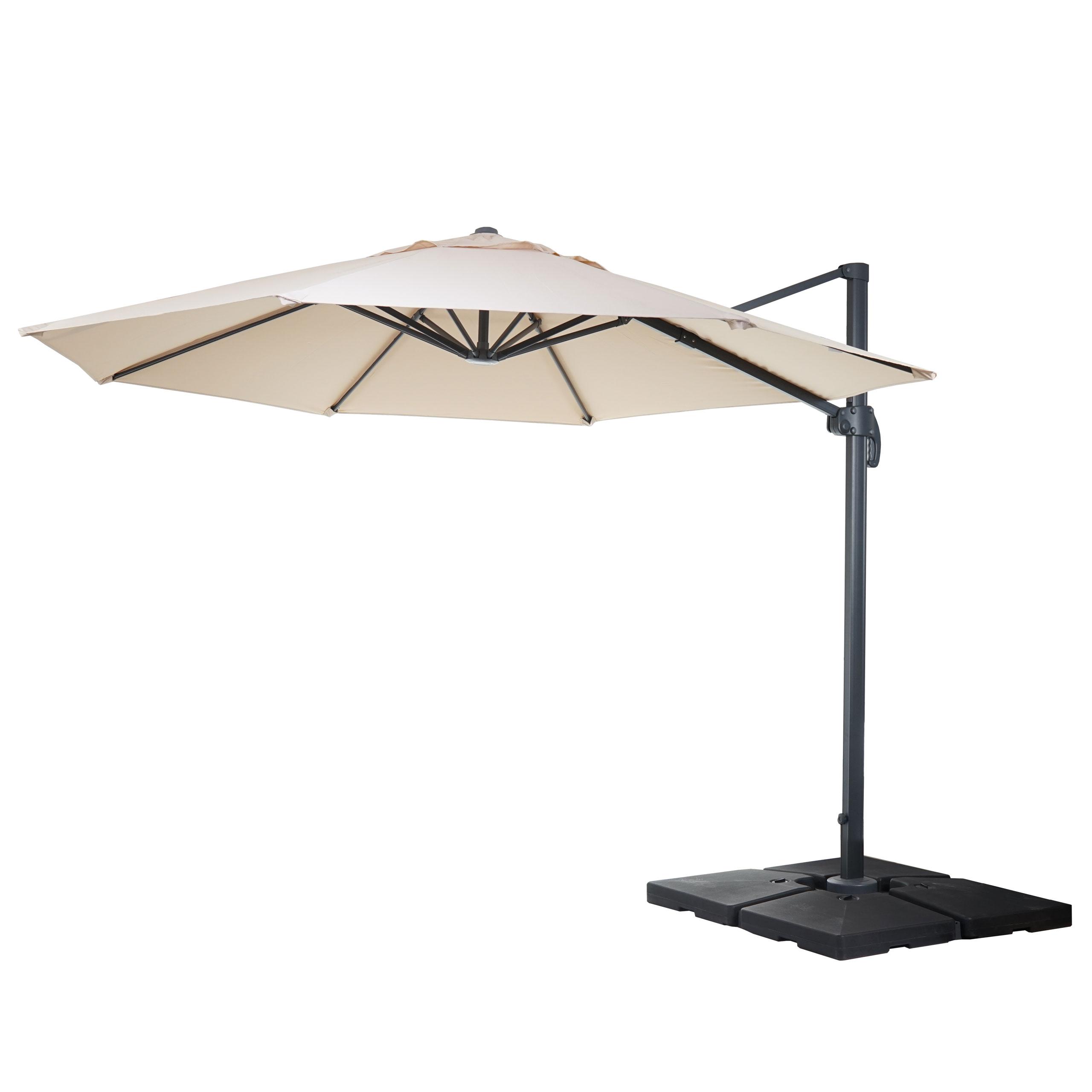 gastronomie luxus ampelschirm sonnenschirm catania 3 5m creme mit st nder drehbar. Black Bedroom Furniture Sets. Home Design Ideas