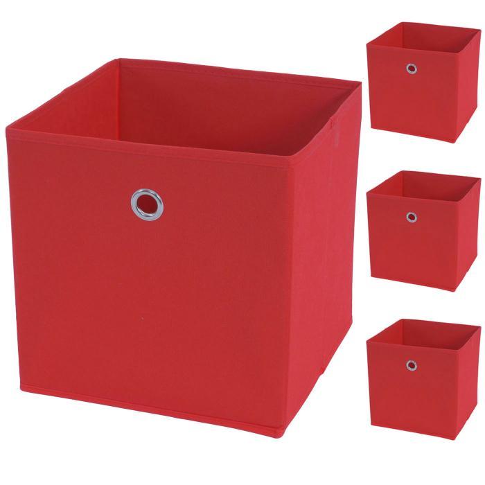 schrank t365 standregal holzregal walnussbraun inkl 4 faltboxen rot. Black Bedroom Furniture Sets. Home Design Ideas