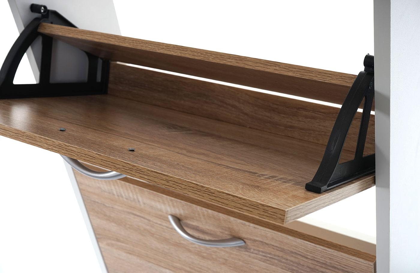 Scarpiera salvaspazio t363 5 scomparti 17x51x170cm for Staffe per mensole richiudibili
