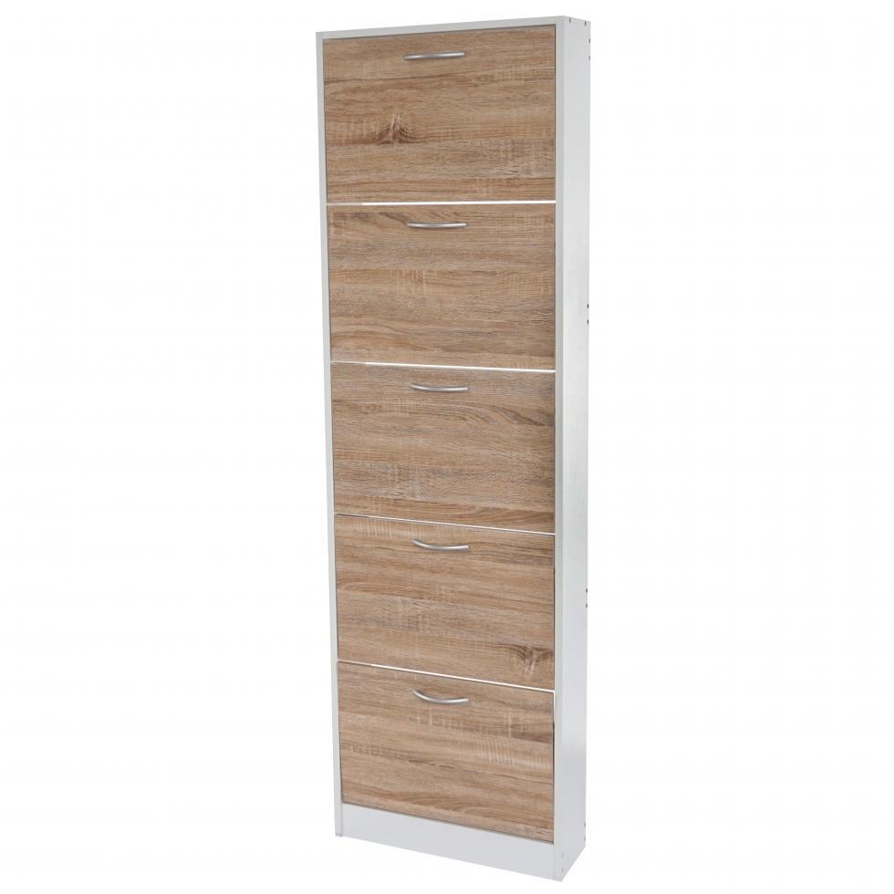 schuhkipper h363 schuhschrank schuhregal 170x51x17cm wei eiche ebay. Black Bedroom Furniture Sets. Home Design Ideas