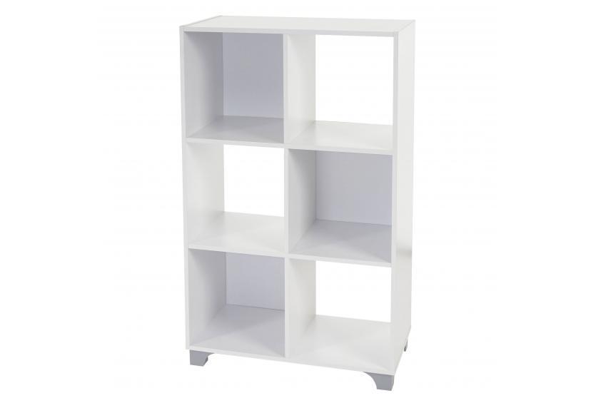 regal h364 standregal b cherregal medienregal holzregal wei 6 f cher ebay. Black Bedroom Furniture Sets. Home Design Ideas