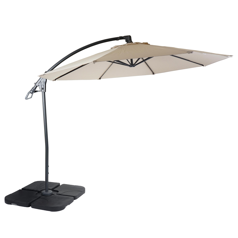 deluxe ampelschirm mcw d14 sonnenschirm 3m creme wei. Black Bedroom Furniture Sets. Home Design Ideas