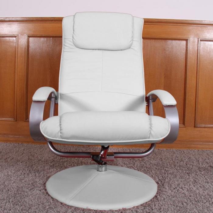 relaxliege relaxsessel fernsehsessel n44 mit hocker wei. Black Bedroom Furniture Sets. Home Design Ideas