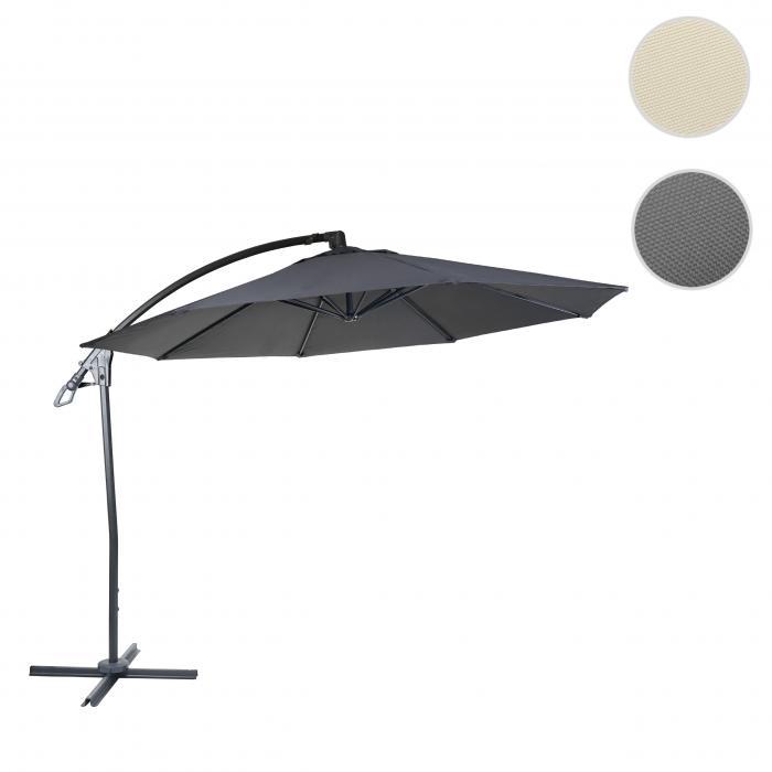 deluxe ampelschirm hwc d14 sonnenschirm rund 3m polyester alu stahl 14kg anthrazit ohne. Black Bedroom Furniture Sets. Home Design Ideas