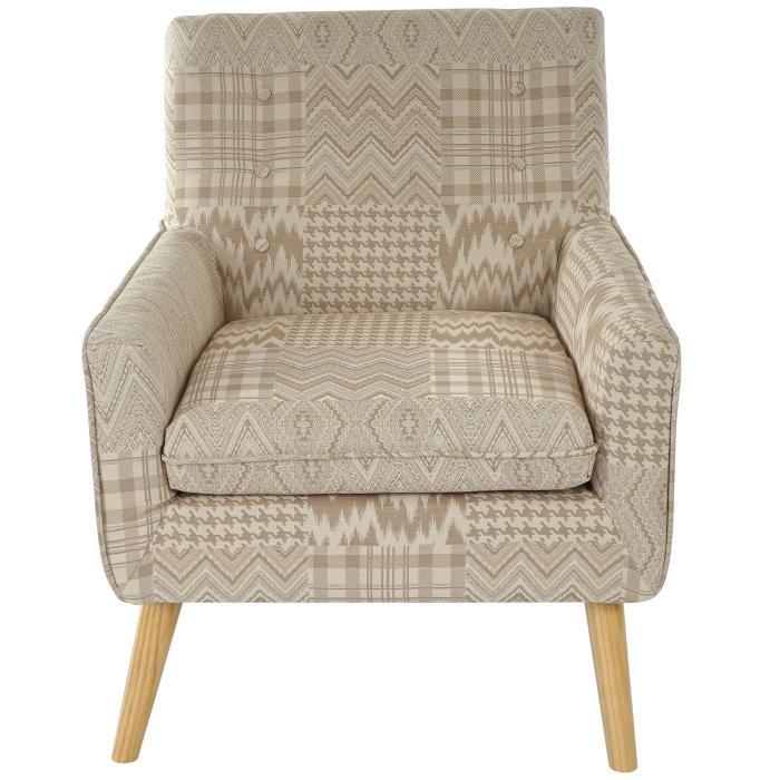 sessel malm t370 loungesessel polstersessel retro 50er jahre design textil beige braun. Black Bedroom Furniture Sets. Home Design Ideas