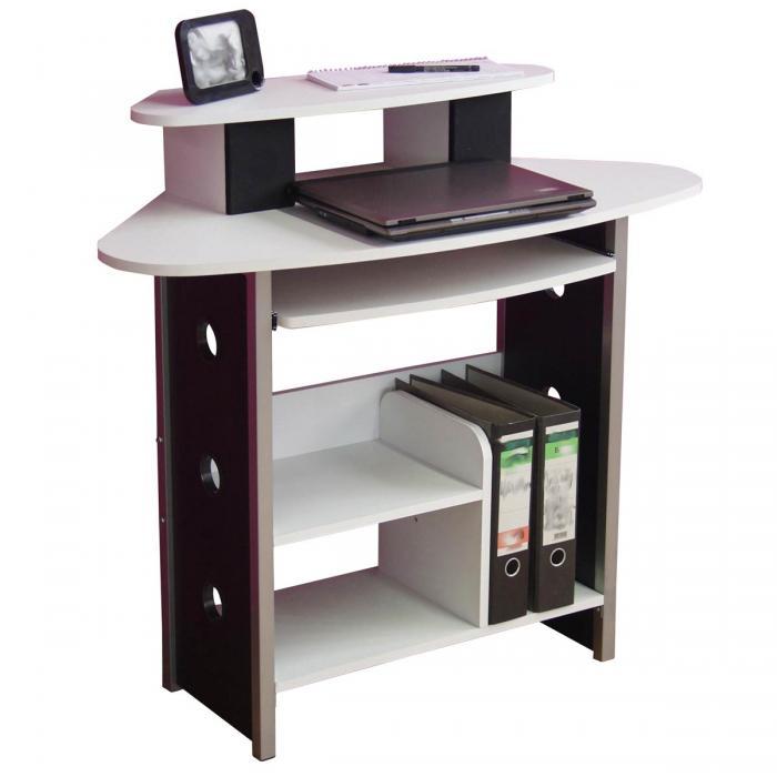 computer tisch schreibtisch h100 computertisch ba 1 4 rotisch pc 91x100x49cm weia kaufen online