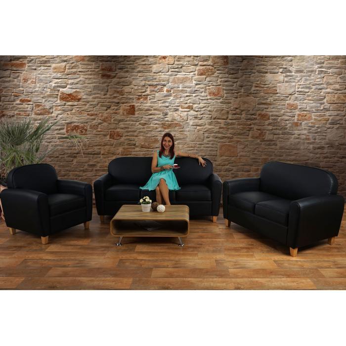 Ecksofa kunstleder vintage  3er Sofa Malmö T377, Loungesofa Couch, Retro 50er Jahre Design ...