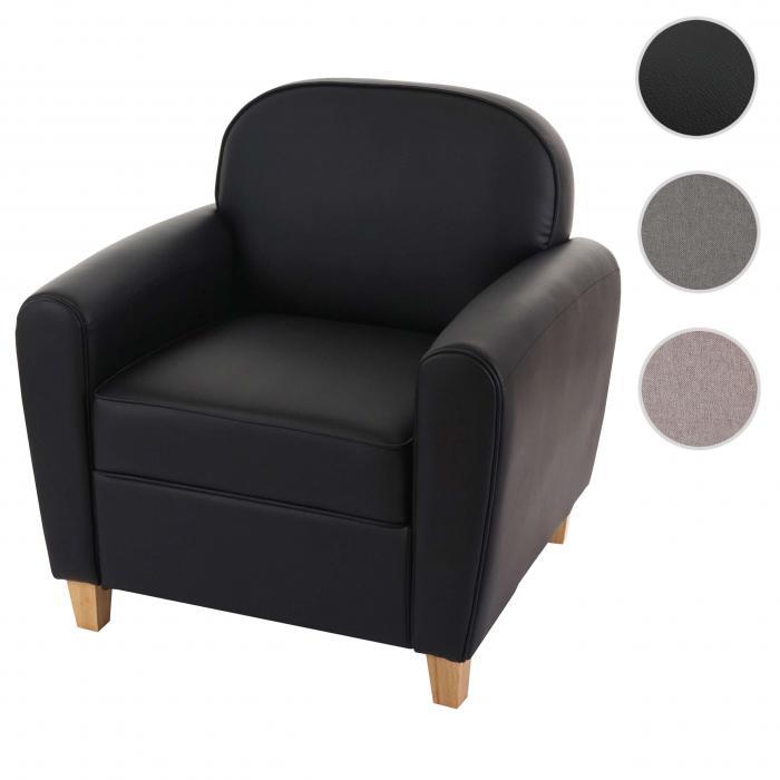 Sessel Malmö T377, Loungesessel Polstersessel, Retro 50er Jahre Design ~  schwarz, Kunstleder