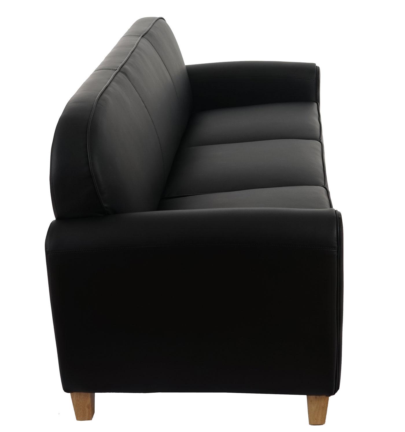 3er sofa malm t377 loungesofa couch retro 50er jahre design schwarz kunstleder. Black Bedroom Furniture Sets. Home Design Ideas
