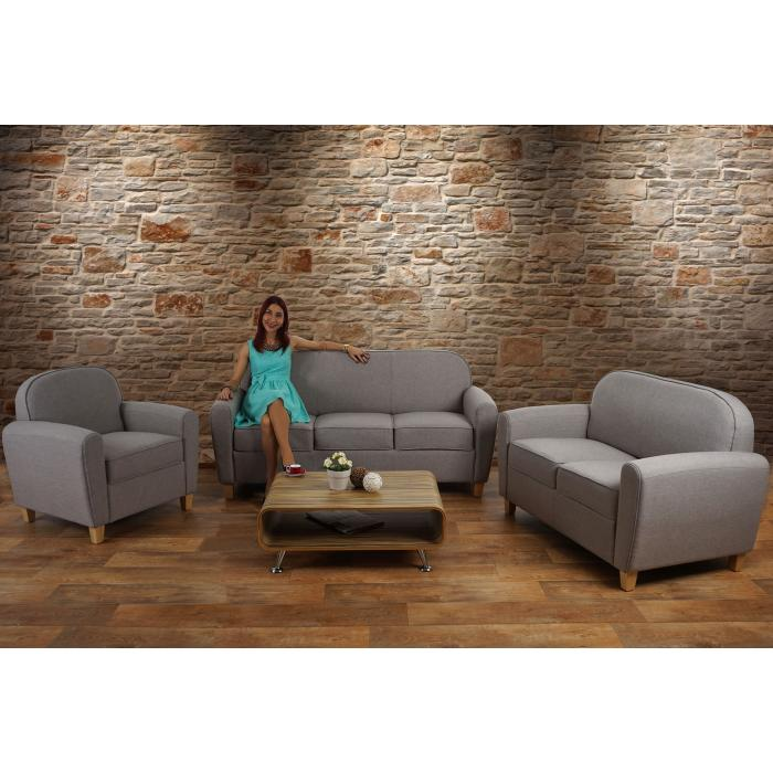sessel malm t377 loungesessel polstersessel retro 50er jahre design grau textil. Black Bedroom Furniture Sets. Home Design Ideas