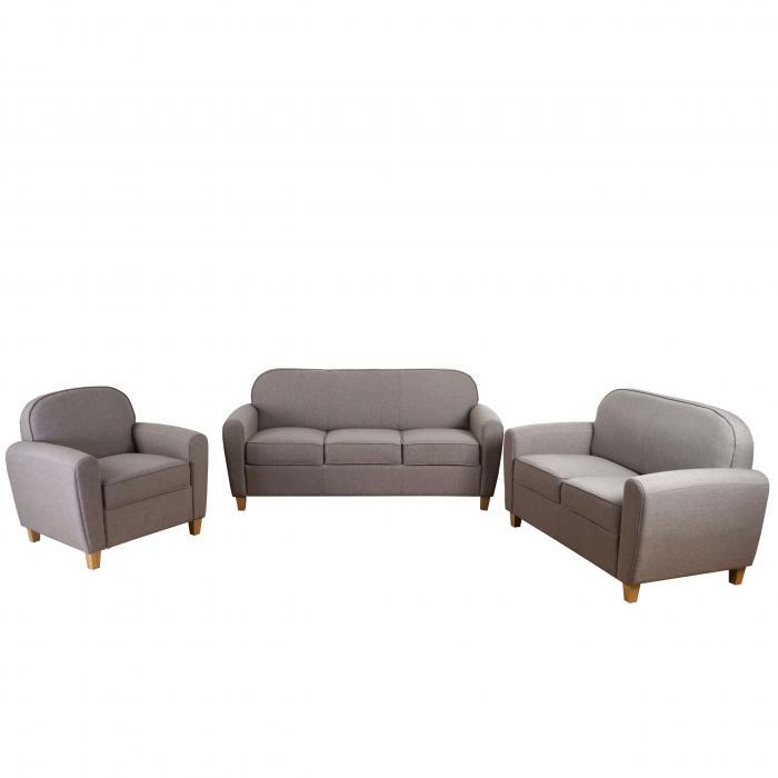 3 2 1 sofagarnitur malm t377 couch loungesofa retro 50er jahre design grau textil. Black Bedroom Furniture Sets. Home Design Ideas