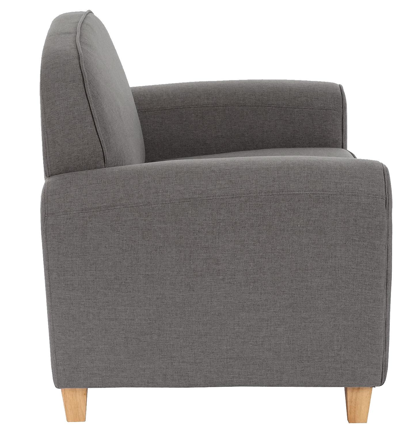 sessel malm t377 loungesessel polstersessel retro 50er jahre design dunkelgrau textil. Black Bedroom Furniture Sets. Home Design Ideas