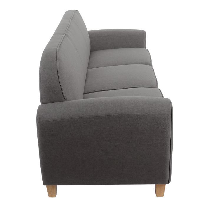 3er sofa malm t377 loungesofa couch retro 50er jahre design dunkelgrau textil. Black Bedroom Furniture Sets. Home Design Ideas