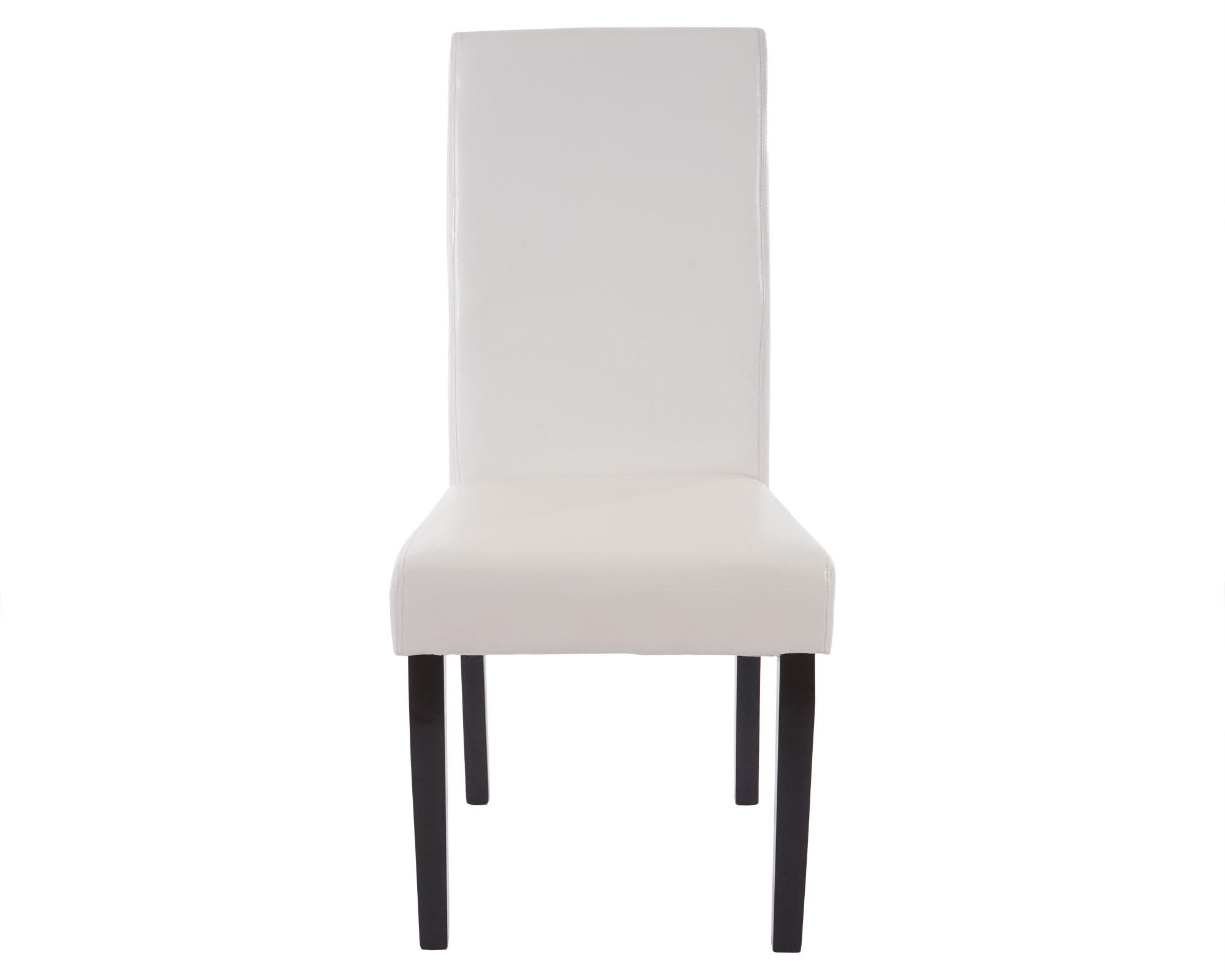 6x esszimmerstuhl t378 xl stuhl lehnstuhl kunstleder wei dunkle beine. Black Bedroom Furniture Sets. Home Design Ideas