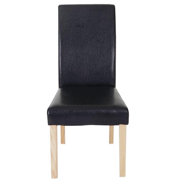 6x esszimmerstuhl t378 xl stuhl lehnstuhl kunstleder schwarz helle beine. Black Bedroom Furniture Sets. Home Design Ideas