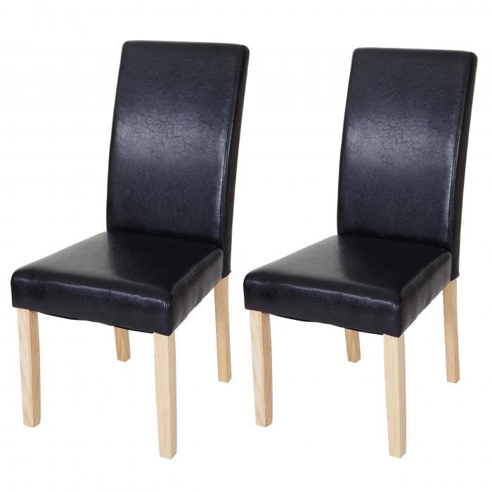 2x esszimmerstuhl t378 xl stuhl lehnstuhl kunstleder schwarz helle beine. Black Bedroom Furniture Sets. Home Design Ideas