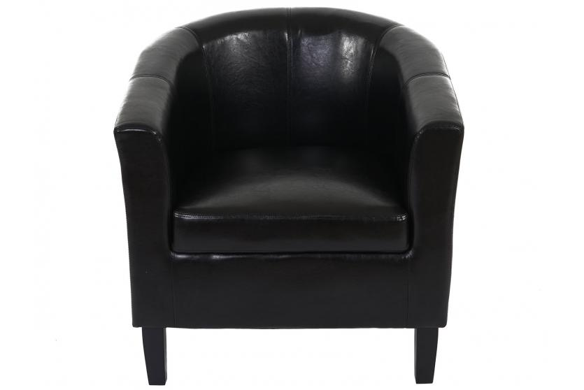 sessel newport t379 loungesessel clubsessel kunstleder schwarz. Black Bedroom Furniture Sets. Home Design Ideas