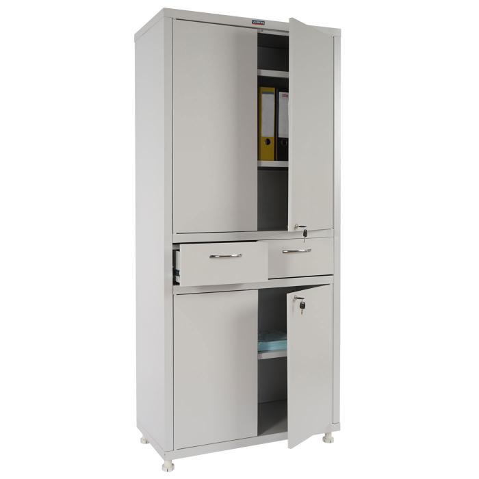 Valberg T380, Metallschrank Büroschrank, 4 Türen 2 Schubladen ...