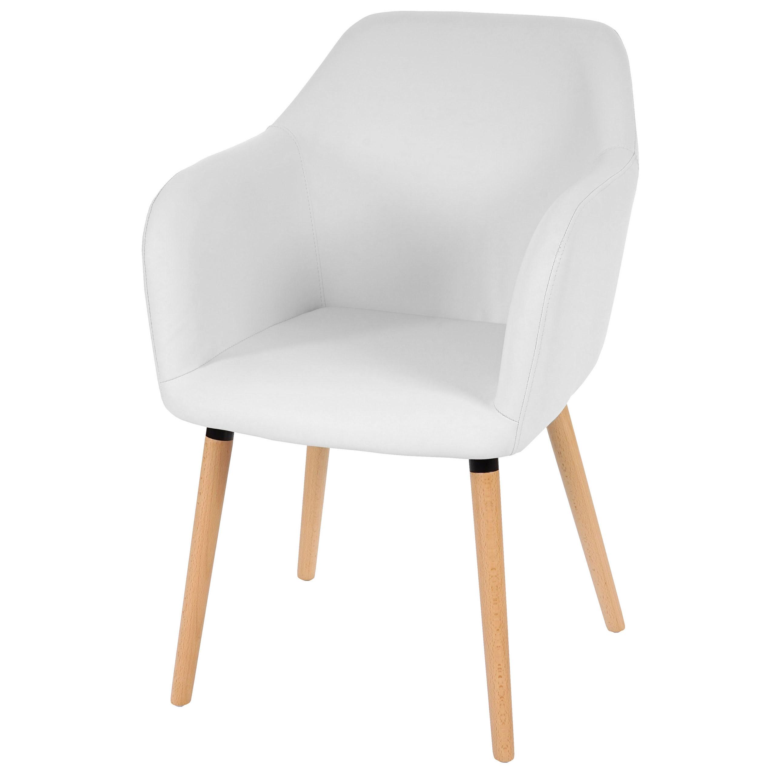 esszimmerstuhl malm t381 stuhl lehnstuhl retro 50er jahre design kunstleder wei. Black Bedroom Furniture Sets. Home Design Ideas