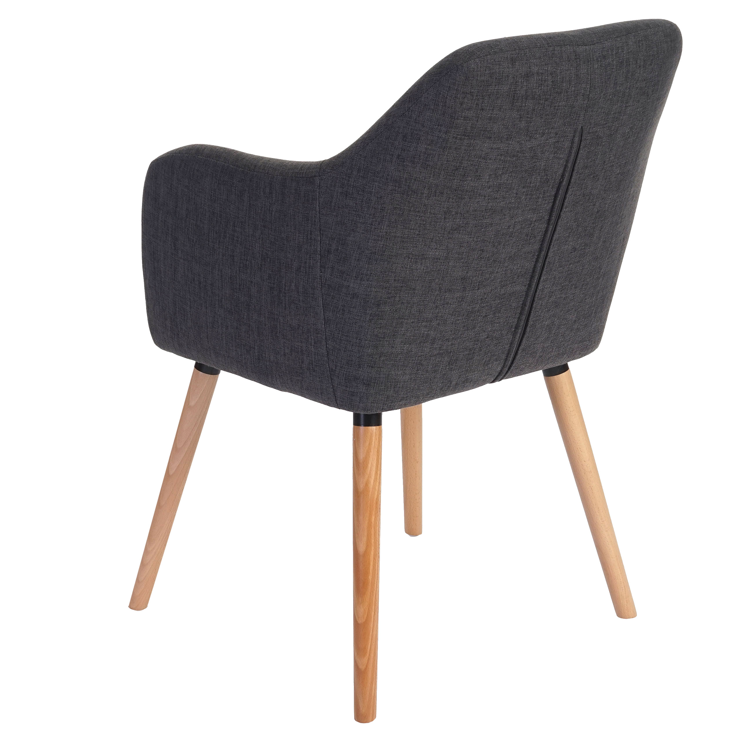 esszimmerstuhl malm t381 stuhl lehnstuhl retro 50er jahre design textil grau. Black Bedroom Furniture Sets. Home Design Ideas