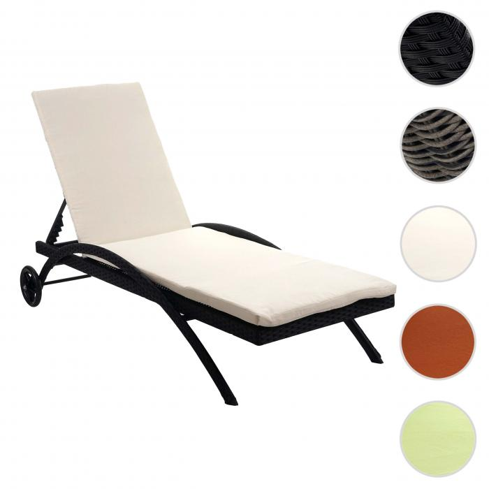 sonnenliege kastoria relaxliege gartenliege poly rattan braun meliert auflage creme. Black Bedroom Furniture Sets. Home Design Ideas