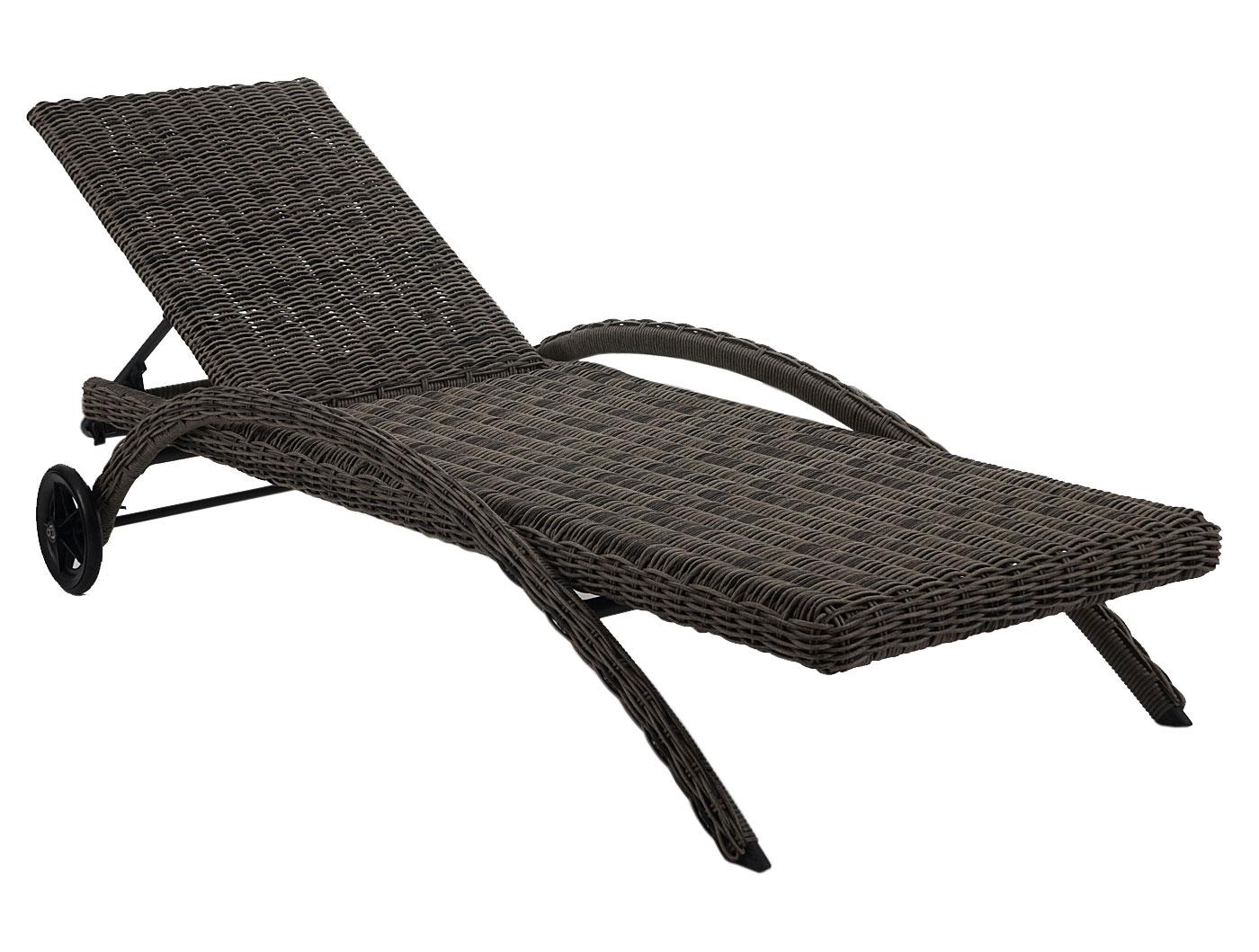 luxus sonnenliege kastoria relaxliege gartenliege rundes rattan naturgrau auflage creme. Black Bedroom Furniture Sets. Home Design Ideas