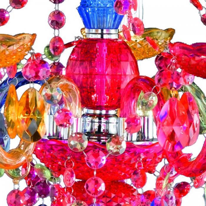 ... Reality|Trio Acryl Kronleuchter Lüster, 5 Flammig ~ Multicolor ...