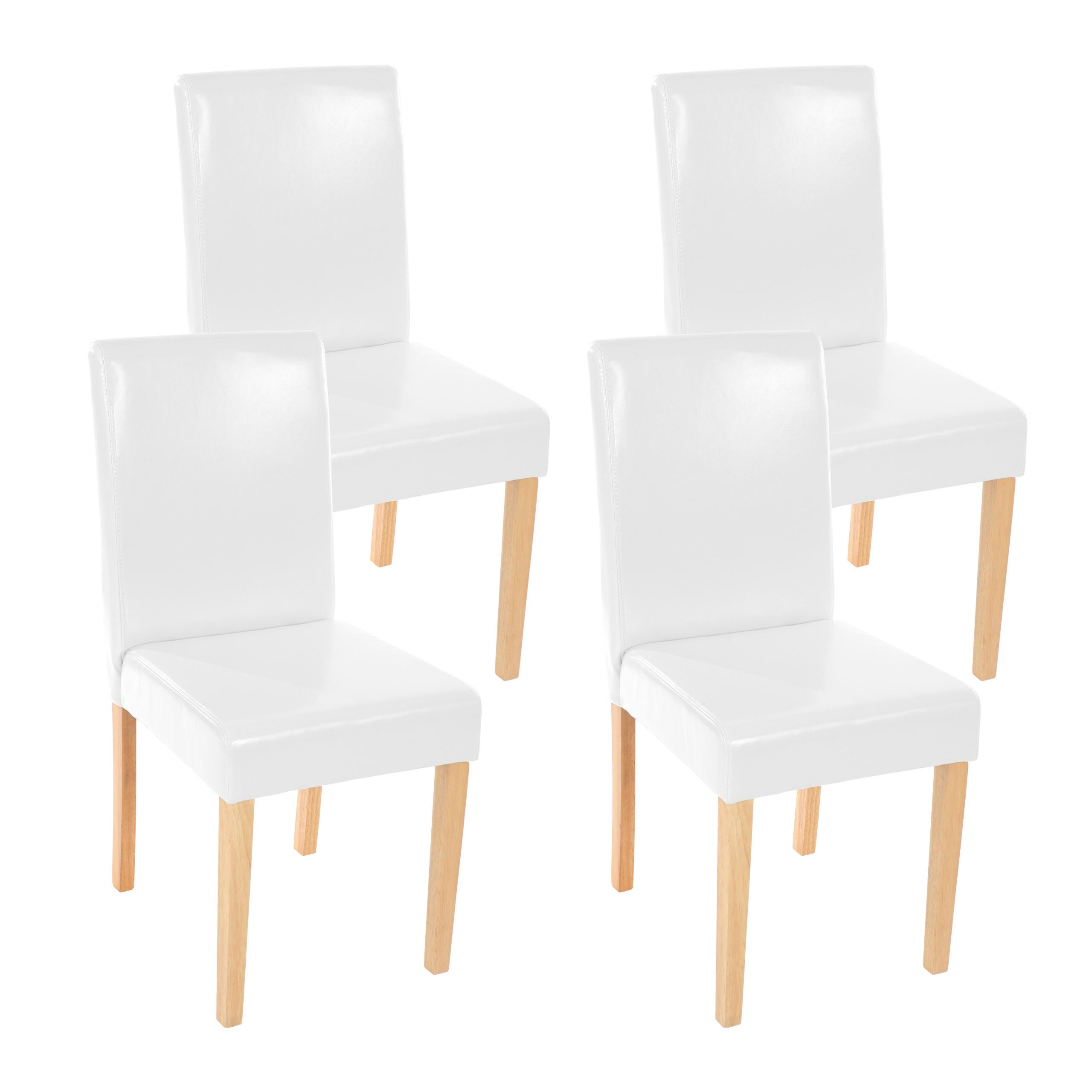 Stühle weiss leder  4x Esszimmerstuhl Stuhl Lehnstuhl Littau ~ Leder, weiß helle Beine