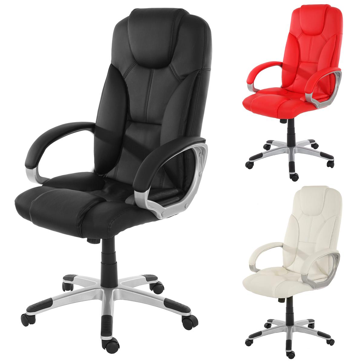 Chefsessel b rostuhl drehstuhl basel kunstleder rot for Sillones para escritorios oficina