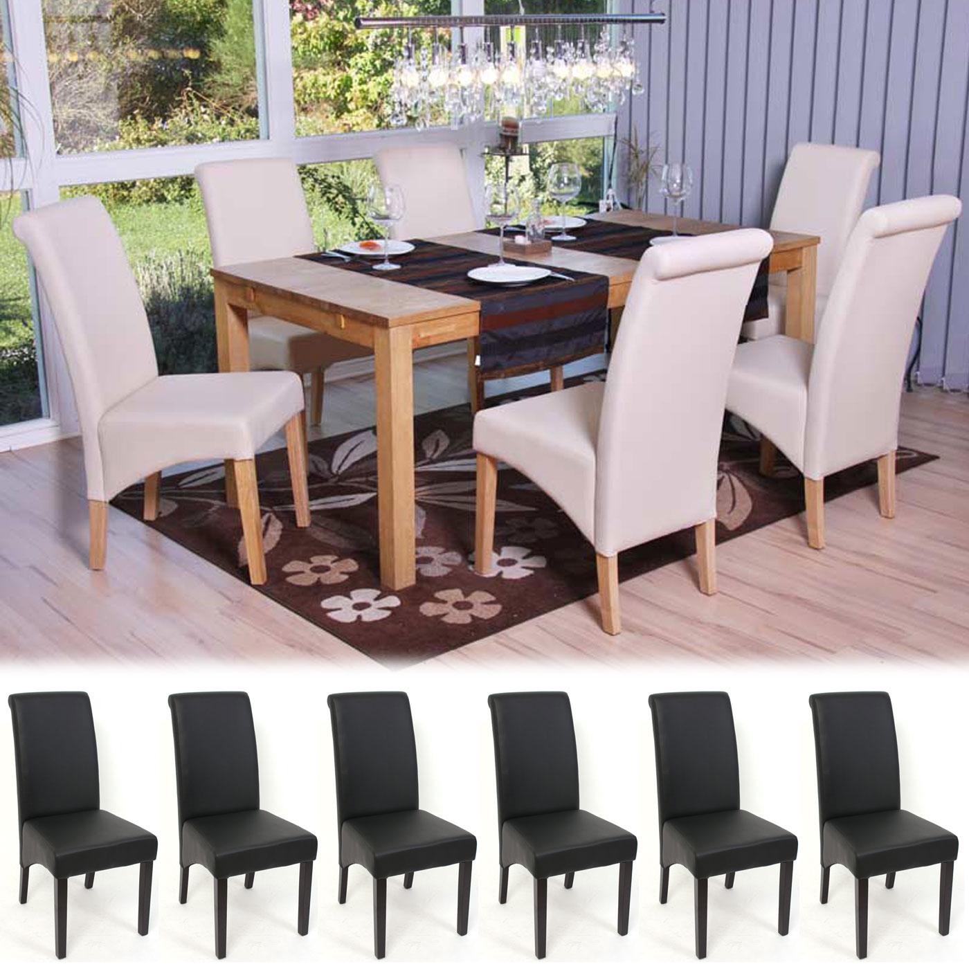 Esszimmerstuhl Stuhl M37 Details 6x Kunstleder zu matt Lehnstuhl 5jqR3AL4